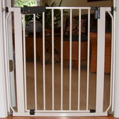 Auto Lock Pressure Pet Gate - Wood Tone