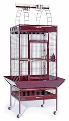 Large Select Wrought Iron Play Top Bird Cage - Sage Green