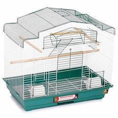Barn Style Bird Cage - Green