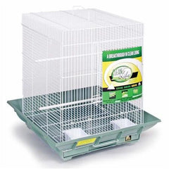 Clean Life Small Flight Cage - Green & White