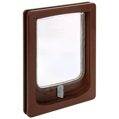 Small Dog Door with Tunnel - Brown
