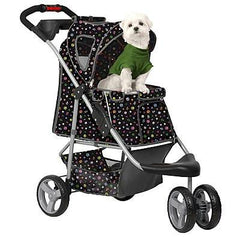 Monogram Pet Stroller - Black