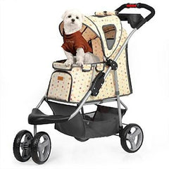 Monogram Pet Stroller - Tan