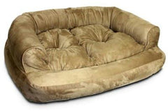 Overstuffed Luxury Pet Sofa - Extra Large/Toro Cocoa