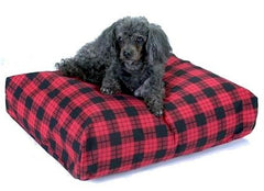 Rectangular Pillow Bed - Large/Red