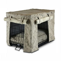 Cabana Pet Crate Cover with Pillow Bed - Extra Large-Amulet Shell-Buckskin
