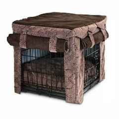 Cabana Pet Crate Cover with Pillow Bed - Extra Large-Amulet-Hot Fudge