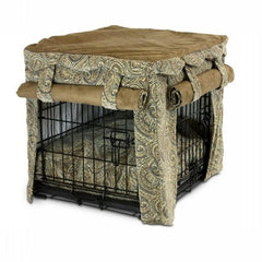 Cabana Pet Crate Cover with Pillow Bed - Extra Large-Sicilly-Coffee