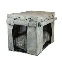 Cabana Pet Crate Cover with Pillow Bed - Extra Large-Chaparral