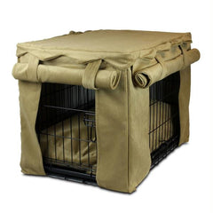 Cabana Pet Crate Cover with Pillow Bed - Extra Large-Toro Antuque Gold