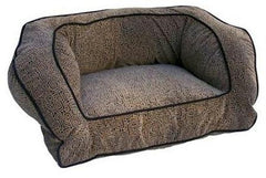 Contemporary Pet Sofa - Medium/Black/Herringbone