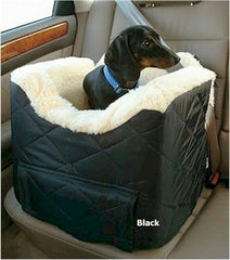 Lookout II Dog Car Seat - Medium/Black Quilt