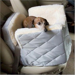 Lookout I Dog Car Seat - Small/Grey Quilt