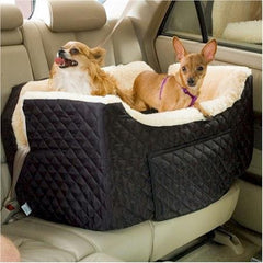 Large Lookout Dog Car Seat - Grey Quilt