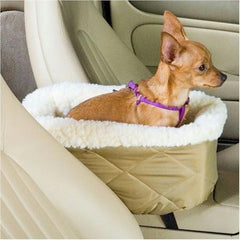 Console Lookout Dog Car Seat - Large/Baby Pink Vinyl