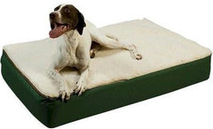 Super Ortho Lounger Dog Bed - Medium/ Green/Creme Top