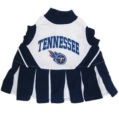 Tennessee Titans NFL Dog Cheerleader Outfit - Medium