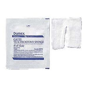 "Derma Sciences Woven Tracheotomy/Drain Sponge, 12 -Ply, 4"" x 4"""