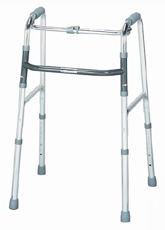 Single Release Folding Walker Adult sunmark® Aluminum 300 lbs. 32 to 36 Inch