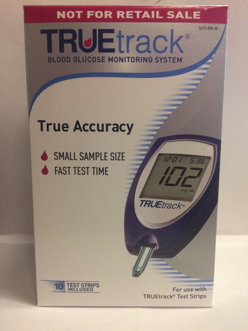 TRUEtrack Blood Glucose Meter - Packages Available with Test Strips & Lancets
