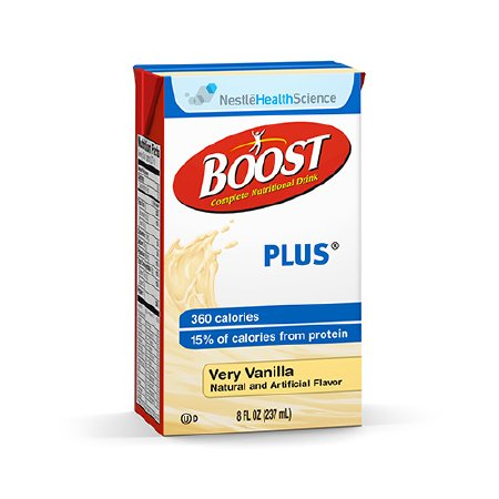 Oral Supplement Boost® Plus Very Vanilla 8 oz. Tetra Brik® Ready to Use