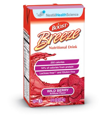 Oral Supplement Boost Breeze® Wild Berry 8 oz. Carton Ready to Use