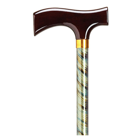 Women's Aluminum Dress Stick with Wood Fritz Handle - Available in 6 Patterns