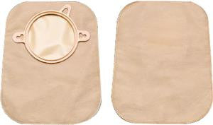 "Hollister 3347 CenterPointLock™ Two-Piece Closed Pouch, 1-1/2"" Flange, 9"" L, Filter, White"