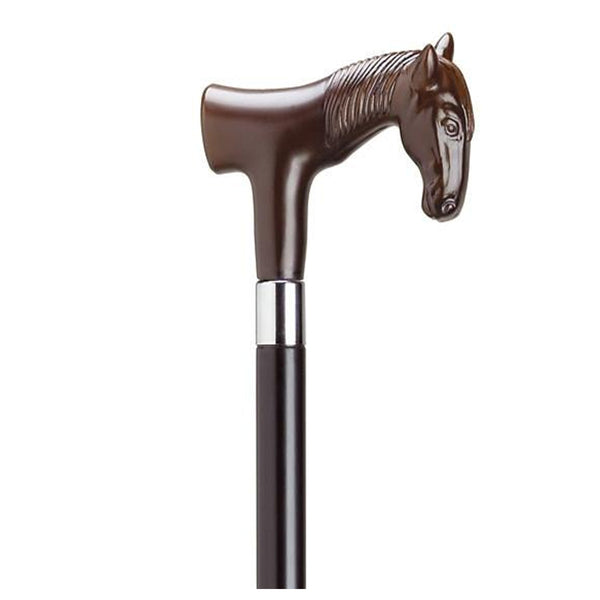 Horse Head Handle Novelty Cane - Available in 4 Colors