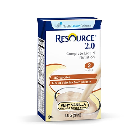 Oral Supplement Resource® 2.0 Very Vanilla 8 oz. Carton Ready to Use