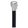 Skull Handle Novelty Cane - Chrome or Gold Color