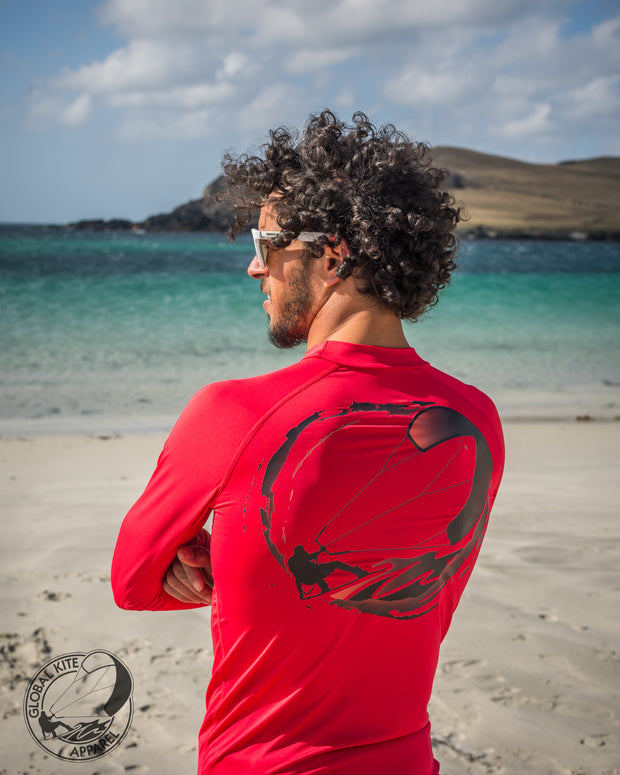 Global Kite Rash Guard Rash Vest Sports Base Layer ...Your Kitesurfing Lifestyle In Synergy...
