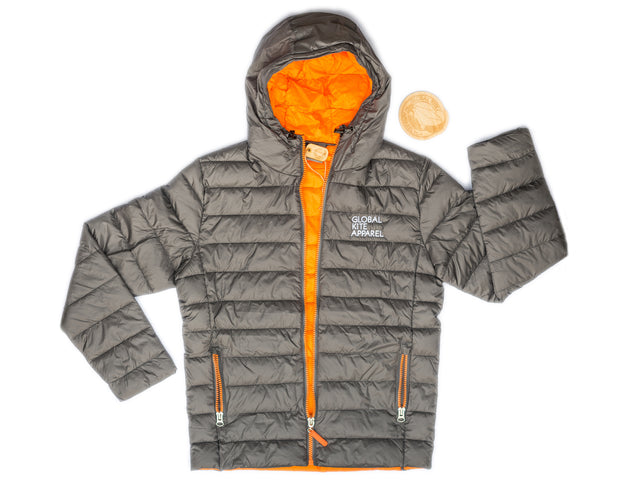 Global Kite Apparel Mens Sessions Jacket - Grey & Orange