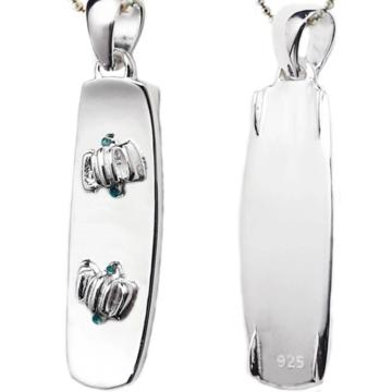Sterling Silver Kitesurf Twin Tip Pendant