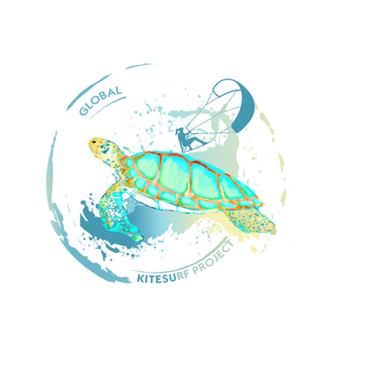 Global Kitesurf Project T Shirt for her - Turtle