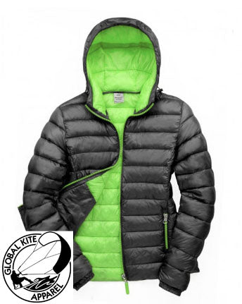 Global Kite Apparel Mens Sessions Jacket - Black & Lime