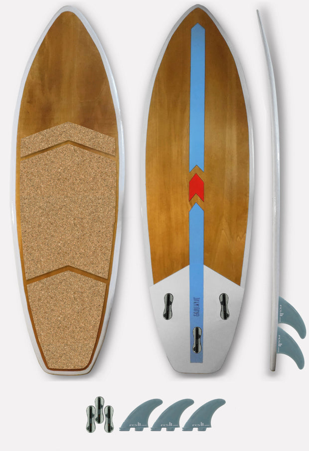 SKULLWAVE: DIRECTIONAL KITESURF BOARD: WAVE