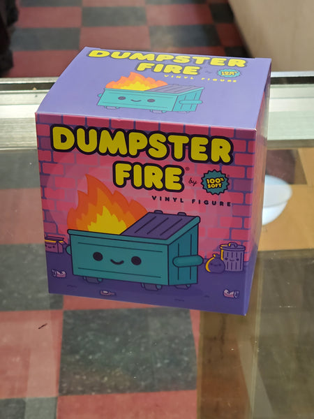 Dumpster Fire Vinyl Figure by 100% Soft
