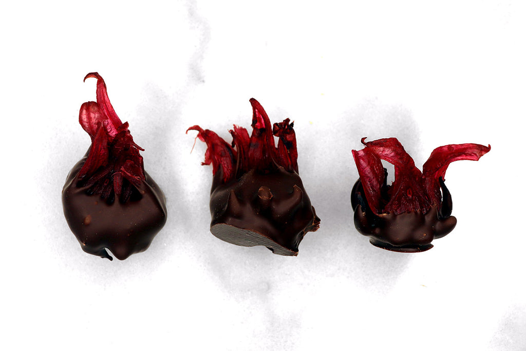 Candied Hibiscus + Origin Chocolate