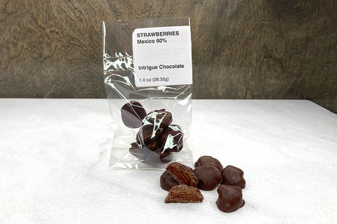 Sweetened Dried Strawberries + Origin Chocolate 60%