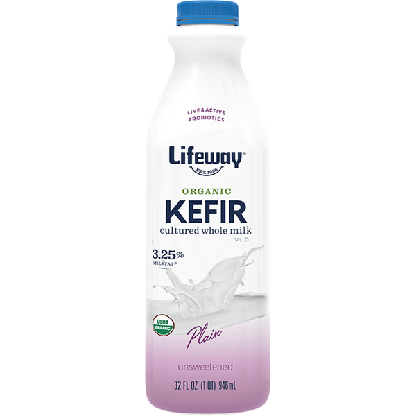 Lifeway, Kefir Plain Whole Milk Organic, 32oz (Chill)
