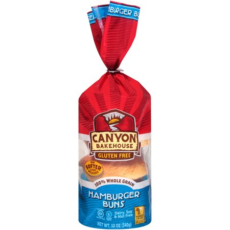 Canyon Bakehouse, Gluten Free Whole Grain Hamburger Buns 12oz (Frozen)