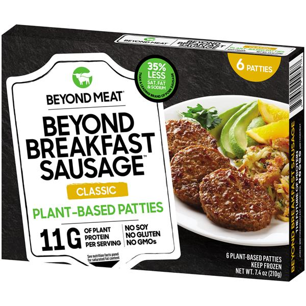 Beyond Meat, Beyond Breakfast Sausage Patty Classic 6patties 7.4oz (Frozen)