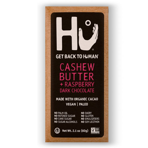 Hu Kitchen, Cashew Butter + Raspberry Dark Chocolate Bar 2.1oz