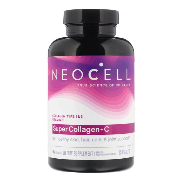 NeoCell, Super Collagen (Types 1 & 3) + C Tablets 250 Ct