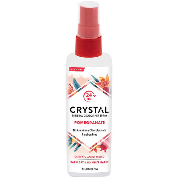 Crystal Essence, Mineral Deodorant Body Spray Pomegranate 4oz