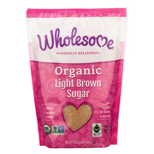 Wholesome Sweeteners, Organic Light Brown Sugar 24oz