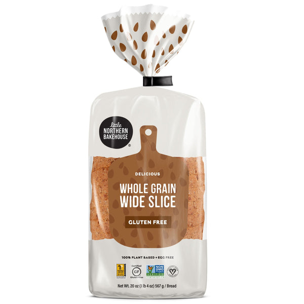 Little Northern Bakehouse, Gluten Free Whole Grain Wide Slice Bread 20oz (Frozen)