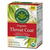 Traditional Medicinals, Organic Throat Coat with Eucalyptus 16Ct