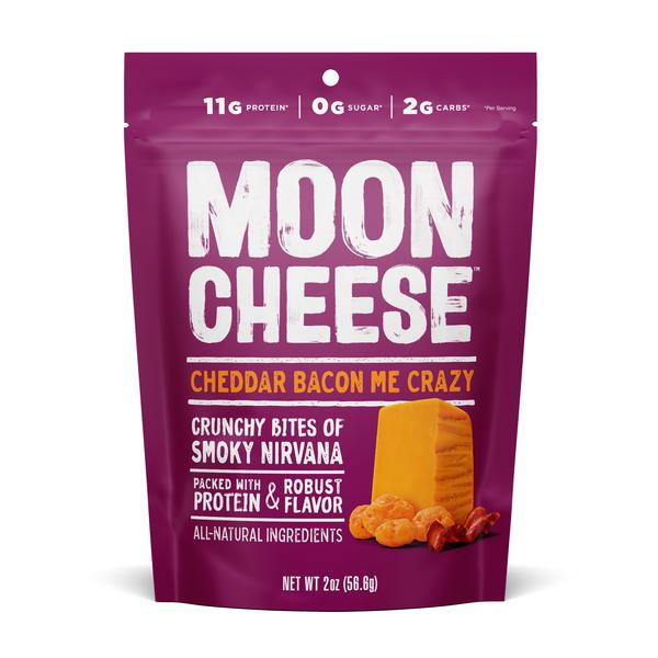 Moon Cheese, Cheddar Bacon Me Crazy Crunchy Bites 2oz